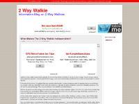 Buy Cheap 2 Way Walkies » 2 Way Walkie