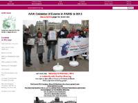 aawfrance.org MARX in SOHO, BATEAU FRANCAIS POUR GAZA, IRISH protest US ARMY
