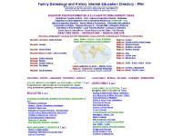 Family Genealogy and History Internet Education Directory - Wiki