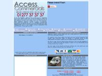 Used vans, lutons, pick-ups for sale Access Commercials Essex