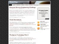 Climbing, CV/Resume, Clock Descriptions, Log Mysteries