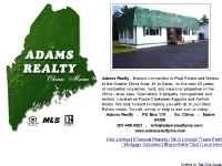 Adams Realty Maine - #1 in Sales, for the past 25 years, residential & seasonal properties & land - China Lakes area