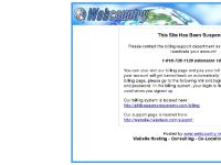 Suspended site - Webcountry Website Hosting