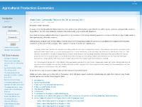 Agricultural Production Economics
