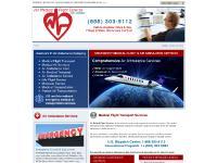 air-medical-flight-services.com medical air flight transportation ambulance cost service life services usa america international