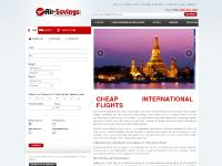air-savings.com cheap airline tickets, cheap international flights, cheap international tickets