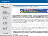 Airtel Ringtones : airtelringtone.com