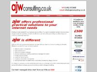 ajwconsulting.co.uk Technology page tab, Clients page tab, Consulting page tab