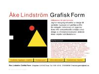 Ake Lindstrom Graphic Design