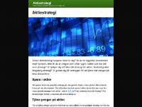 Aktiestrategi - Aktie strategi för bästa möjliga avkastning på kort och lång sikt | aktiestrategi.se