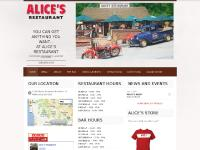 alicesrestaurant.com Alice's Restaurant, Wine List, The Bar