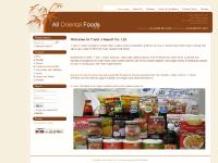 All Oriental Foods - Oriental food products for oriental cooking
