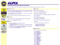 ALPCA - The Automobile License Plate Collectors Association