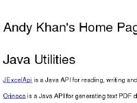 andykhan - Home page of Andy Khan