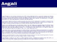 angali.co.uk page content, links on this page, footer (site information)