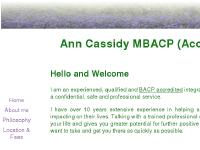 ann-cassidy.co.uk counselling, counsellor, psychotherapy