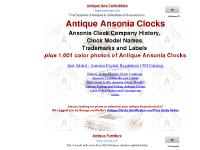 antiqueansoniaclocks.com Ansonia Trademarks and Labels, 1,001 Color Photos and Descriptions