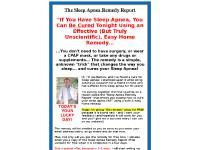 Sleep Apnea Cure - ApneaCure.com - Sleep Apnea