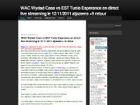 WAC Wydad Casa vs EST Tunis Esperance en direct live streaming le 12/11/2011 aljazeera +9 retour