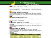 Mietwagen Kanarische Inseln, Location de voitures aux Canaries, Car rental in the Canaries, Paginas Web 1