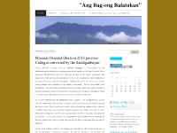 "balatucan.wordpress.com ""Ang Bag-ong Balatukan"", Polls and Surveys, Simbahang Katoliko Calendar"