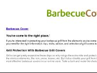 Barbecue Grill Cover Specials and Grilling Information