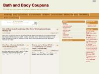 Bath and Body Coupons