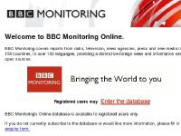 bbcmonitoringonline - BBC Monitoring Online - Welcome
