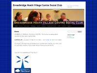 Broadbridge Heath Village Centre Social Club, Near Horsham West SussexBroadbridge