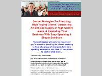 Be a Great Speaker & Make Money Doing Seminars