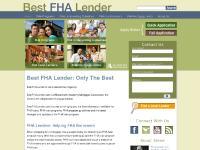 bestfhalender.com Best FHA Lender, FHA Lender, FHA Lenders