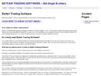 BETFAIR TRADING SOFTWARE – Bet Angel & others
