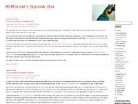 BGMacaw's Squawk Box
