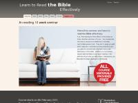 An exciting 10 week seminar | Learn to Read the Bible Effectively - a free 10 week