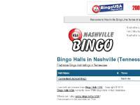 bingonashville.com bingo, bingo hall, nashville