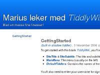 Marius leker med TiddlyWiki - a reusable non-linear personal web notebookMed en massa fina finesser!