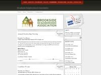 Brookside Neighborhood Association, Events, Newsletters, Uncategorized
