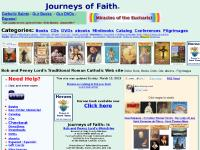 Roman Catholic Saints - Pilgrimages. Catholic Books: Divine Mercy, Female Saints, Catholic Martyrs.
