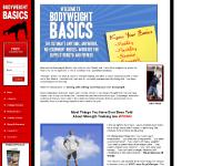 bodyweightbasics.com Training Products, Training Articles, Order Now