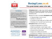 boxinggyms.co.uk