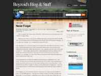 Boyzoid's Blog & Stuff