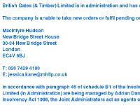 British Gates (& Timber) Limited