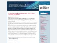 Broadband Law Advisor Blog : Broadband Lawyers & Attorneys : Davis Wright Tremaine Law Firm : National Broadband Plan Adoption & Infrastructure Updates