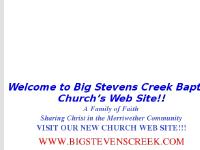 Welcome - Big Stevens Creek Baptist Church