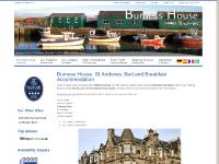 Bed and Breakfast Accommodation, Burness House, St Andrews, Fife, B and B Scotland, St Andrews Old Course/