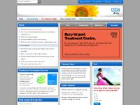bury.nhs.uk Accessibility, NHS Bury, Your local NHS