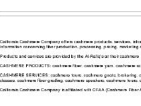 California Cashmere Company