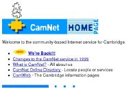 CamNet - The Cambridge FreeNet