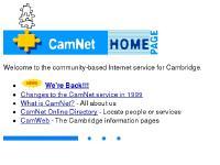 CamNet - The Cambridge FreeNet