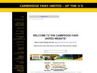 CAMBRIDGE FANS UNITED - UP THE U'S - HOME